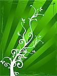 Abstract vector illustration background of Flowers and decorative theam