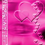 Computer designed abstract background - Valentine's day card with harts Stock Photo - Royalty-Free, Artist: Lizard, Code: 400-03961027