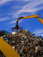 Pile of old scrap in scrap yard Stock Photo - Royalty-Freenull, Code: 400-03961046