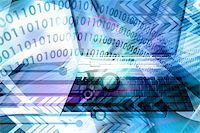 rgbspace - IT technology business - computer with abstract design elements in techno background Stock Photo - Royalty-Freenull, Code: 400-03962119