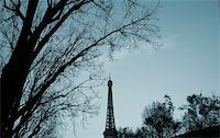 The Eiffel Tower in nightfall - paris France Stock Photo - Royalty-Freenull, Code: 400-03962915