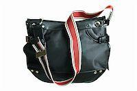 Black female bag on a white background Stock Photo - Royalty-Freenull, Code: 400-03964193