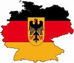 Vector Illustration of a Map and Flag from Germany Stock Photo - Royalty-Free, Artist: Digitalstudio, Code: 400-03964721