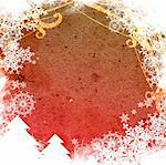 Christmas abstract Background frame Stock Photo - Royalty-Free, Artist: ilolab, Code: 400-03965621