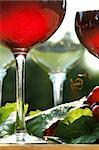 Glow of red wine in the sun Stock Photo - Royalty-Free, Artist: Sandralise, Code: 400-03965740