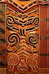 Wood carving in Maori Meeting House Stock Photo - Royalty-Free, Artist: oralleff, Code: 400-03965913