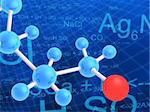 3d rendered illustration of science formulas and molecules Stock Photo - Royalty-Free, Artist: Eraxion, Code: 400-03966156