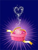 gift with love and magic / vector / separate layers  Stock Photo - Royalty-Freenull, Code: 400-03966733
