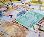 A staple of different Euros Stock Photo - Royalty-Free, Artist: erikdegraaf, Code: 400-03967553