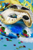 Carnival detail with mask Stock Photo - Royalty-Freenull, Code: 400-03968418