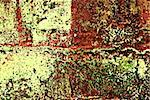 Deteriorating painted brick wall stylized with grunge effects (part of a photo illustration series) Stock Photo - Royalty-Free, Artist: karimala, Code: 400-03968606