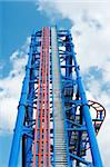 huge thrill ride to blue cloudy sky Stock Photo - Royalty-Free, Artist: sahua, Code: 400-03968799