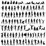 one hundred male and female silhouettes Stock Photo - Royalty-Free, Artist: dip, Code: 400-03970004