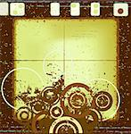 decorative abstract grunge design, abstract circles Stock Photo - Royalty-Free, Artist: dip, Code: 400-03970017