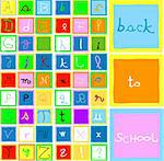 back to school; collection of letters and numbers - vector Stock Photo - Royalty-Free, Artist: dip, Code: 400-03970025