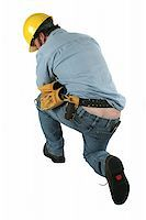A construction worker bent over exposing butt crack. Stock Photo - Royalty-Freenull, Code: 400-03971093