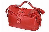 Red female handbag on a white background Stock Photo - Royalty-Freenull, Code: 400-03971623