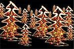 xmas tree (lights) on the black background Stock Photo - Royalty-Free, Artist: jonnysek, Code: 400-03972209