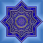 big bright and beautifully intrique mandala design Stock Photo - Royalty-Free, Artist: clearviewstock, Code: 400-03973975