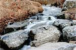 Small creek with rocks,stones and hay during winter - water blurred motion effect. Stock Photo - Royalty-Free, Artist: fiftycents, Code: 400-03974830