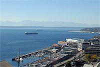 Elliott Bay waterfront, downtown Seattle, Washington Stock Photo - Royalty-Freenull, Code: 400-03975650