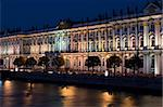The State Hermitage occupies six magnificent buildings situated along the embankment of the River Neva, right in the heart of St Petersburg. The leading role in this unique architectural ensemble is played by the Winter Palace, the residence of the Russian tsars that was built to the design of Francesco Bartolomeo Rastrelli in 1754-62. This ensemble, formed in the 18th and 19th centuries, is exten Stock Photo - Royalty-Free, Artist: alexford, Code: 400-03975834