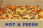 Hot & Fresh Pizza in the box Stock Photo - Royalty-Free, Artist: bedo, Code: 400-03977214