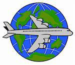Vector art of an airplane Stock Photo - Royalty-Free, Artist: patrimonio, Code: 400-03977514