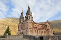Given the cathedral Covadonga in Asturias, Spain Stock Photo - Royalty-Freenull, Code: 400-03977523