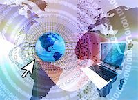 rgbspace - IT technology business - computer with abstract design elements in techno background Stock Photo - Royalty-Freenull, Code: 400-03978390