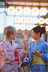 Women Dressed In Yukata Enjoying Matsuri Stock Photo - Premium Rights-Managed, Artist: Aflo Relax, Code: 859-03983239