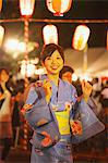 Japanese Woman Performing Bon Dance In Festival, Matsuri Stock Photo - Premium Rights-Managed, Artist: Aflo Relax, Code: 859-03983251