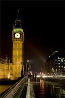 Big Ben, London, England shot at night across Westminster Bridge Stock Photo - Royalty-Freenull, Code: 400-03985980