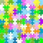 jigsaw puzzle pattern Stock Photo - Royalty-Free, Artist: dip, Code: 400-03988372