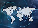 world map technology-style Stock Photo - Royalty-Free, Artist: ilolab, Code: 400-03990465