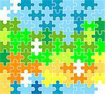 jigsaw puzzle pattern Stock Photo - Royalty-Free, Artist: dip, Code: 400-03992378
