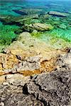 Rock and clear water of Georgian Bay at Bruce peninsula Ontario Canada Stock Photo - Royalty-Free, Artist: Elenathewise, Code: 400-03992510