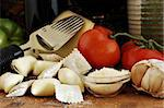 Still life of ingredients for a traditional Italian dinner Stock Photo - Royalty-Free, Artist: karimala, Code: 400-03992643