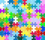 jigsaw puzzle pattern Stock Photo - Royalty-Free, Artist: dip, Code: 400-03996115