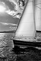 sailing boat storm - sailing ships on a cloudy day near ground Stock Photo - Royalty-Freenull, Code: 400-03997848