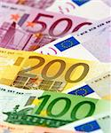 Arranged euro banknotes Stock Photo - Royalty-Free, Artist: pisicax, Code: 400-04001430