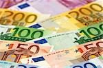 Arranged euro banknotes Stock Photo - Royalty-Free, Artist: pisicax, Code: 400-04001431