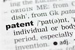 A close up of the word patent from a dictionary Stock Photo - Royalty-Free, Artist: bedo, Code: 400-04001525