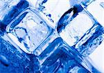 Ice can refer any of the 14 known solid phases of water. However, in non-scientific contexts, it usually describes ice Ih, which is the most abundant of these phases in Earth's biosphere. This type of ice is a soft, fragile, crystalline solid, which can appear transparent or an opaque bluish-white color depending on the presence of impurities such as air. The manufacture and use of ice cubes or cr Stock Photo - Royalty-Free, Artist: JanPietruszka, Code: 400-04002174