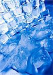 Ice can refer any of the 14 known solid phases of water. However, in non-scientific contexts, it usually describes ice Ih, which is the most abundant of these phases in Earth's biosphere. This type of ice is a soft, fragile, crystalline solid, which can appear transparent or an opaque bluish-white color depending on the presence of impurities such as air. The manufacture and use of ice cubes or cr Stock Photo - Royalty-Free, Artist: JanPietruszka, Code: 400-04002199