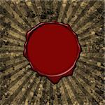 Red wax seal on a grunge parchment background with sun rays Stock Photo - Royalty-Free, Artist: myper, Code: 400-04005403