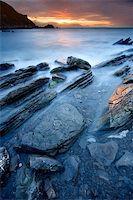 Rocks on the sea of Barrika, Bizkaia (Spain) Stock Photo - Royalty-Freenull, Code: 400-04007728