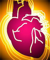 Illustration of heart in radiant light Stock Photo - Royalty-Freenull, Code: 400-04008688