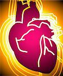 Illustration of heart in radiant light Stock Photo - Royalty-Free, Artist: tillydesign, Code: 400-04008688