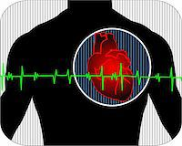 Illustration of heart with pulse graph Stock Photo - Royalty-Freenull, Code: 400-04008689